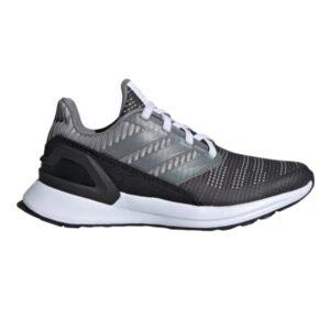 Adidas RapidaRun Knit EL - Kids Running Shoes - Carbon/Grey Five/Grey Two