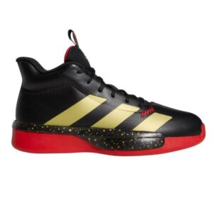 Adidas Pro Next - Mens Basketball Shoes - Core Black/Gold Metallic/Scarlet