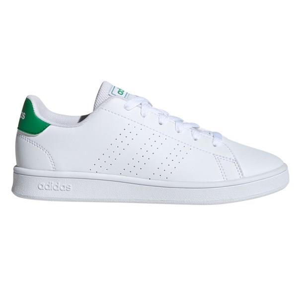 Adidas Advantage GS - Kids Sneakers - Footwear White/Green/Grey