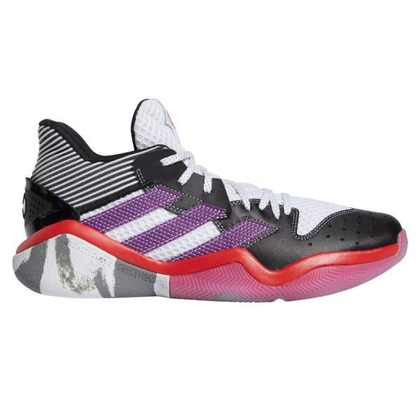 Adidas Harden Stepback - Mens Basketball Shoes - Footwear White/Glory Purple/Core Black