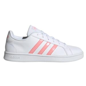 Adidas Grand Court Base - Womens Sneakers - Footwear White/Glow Pink