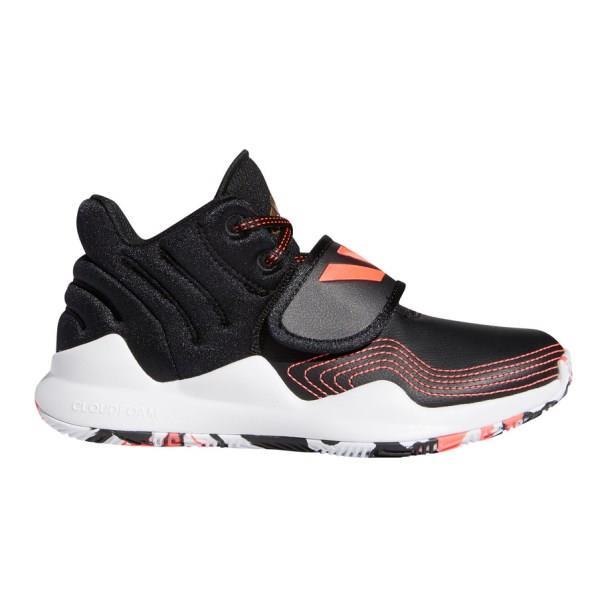 Adidas Deep Threat - Kids Basketball Shoes - Core Black/Copper Metallic/Signal Pink