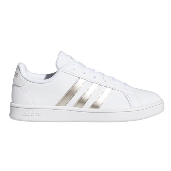 Adidas Grand Court Base - Womens Sneakers - Footwear White/Platinum Metallic