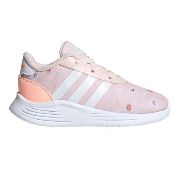 Adidas Lite Racer 2.0 - Toddler Running Shoes - Pink Tint/Cloud White/Light Orange Flash