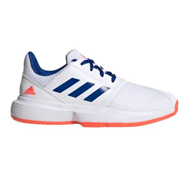 Adidas CourtJam XJ - Kids Tennis Shoes - Footwear White/Collegiate Royal/Solar Red