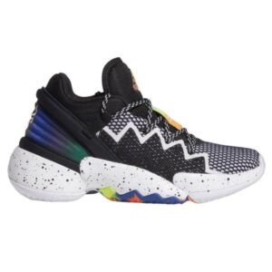Adidas D.O.N. Issue 2 - Kids Basketball Shoes - Core Black/Footwear White/Solar Red