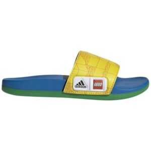 Adidas Adilette Comfort X Lego - Kids Slides - Yellow/Red/Shock Blue