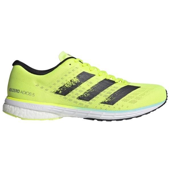 Adidas Adizero Adios 5 - Mens Running Shoes - Solar Yellow/Core Black/Clear Aqua