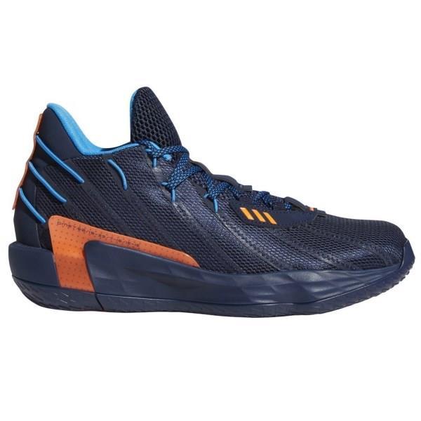 Adidas Dame 7 GCA - Mens Basketball Shoes - Team Navy Blue/Bright Blue/Team Solar Orange