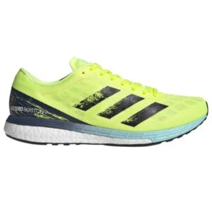 Adidas Adizero Boston 9 - Mens Running Shoes - Solar Yellow/Core Black/Clear Aqua