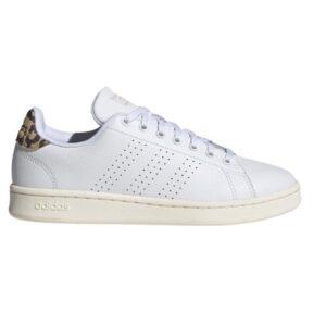 Adidas Advantage - Womens Sneakers - Cloud White/Gold Metallic Print