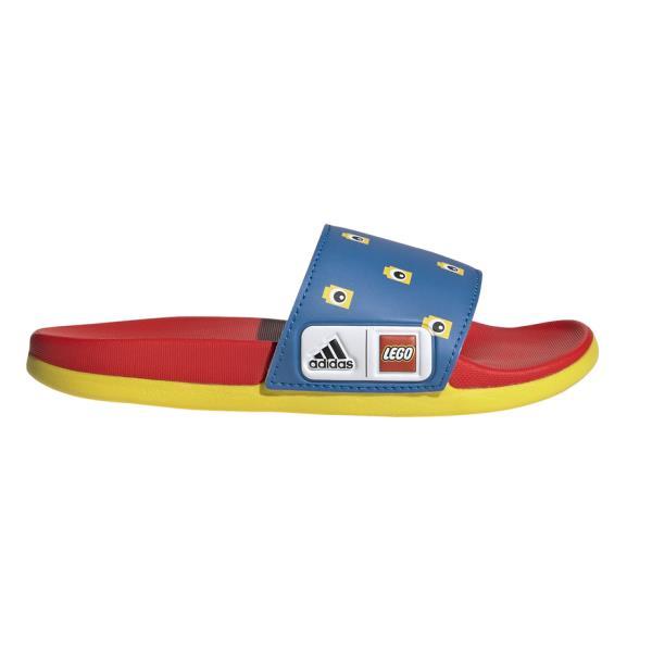 Adidas Adilette Comfort X Lego - Kids Slides - Shock Blue/Red