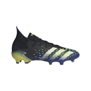 Adidas Predator Freak .1 FG - Mens Football Boots - Core Black/White/Solar Yellow
