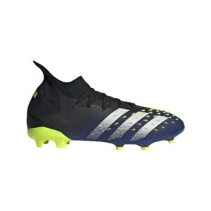 Adidas Predator Freak .2 FG - Mens Football Boots - Core Black/White/Solar Yellow