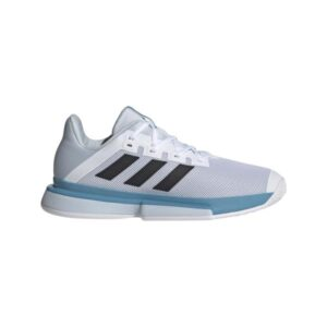 Adidas SoleMatch Bounce - Mens Tennis Shoes - Footwear White/Core Black/Halo Blue
