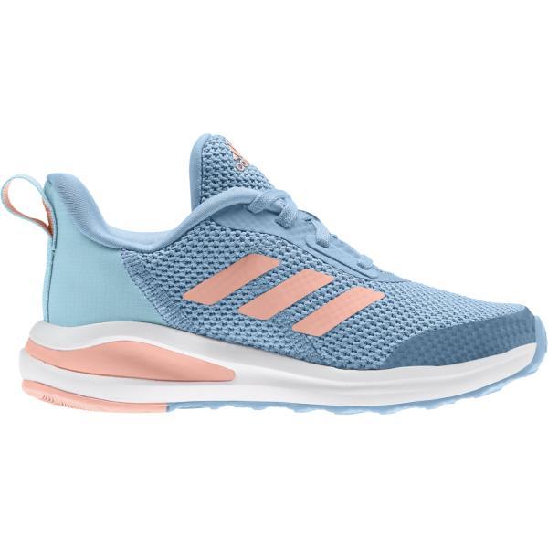 Adidas FortaRun Lace - Kids Running Shoes - Hazy Blue/Glow Pink/Hazy Sky
