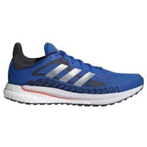 Adidas SolarGlide 3 - Mens Running Shoes - Football Blue/Silver Metal/Solar Red