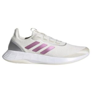 Adidas QT Racer Sport - Womens Sneakers - Chalk White/Cherry Metallic/Metallic Silver