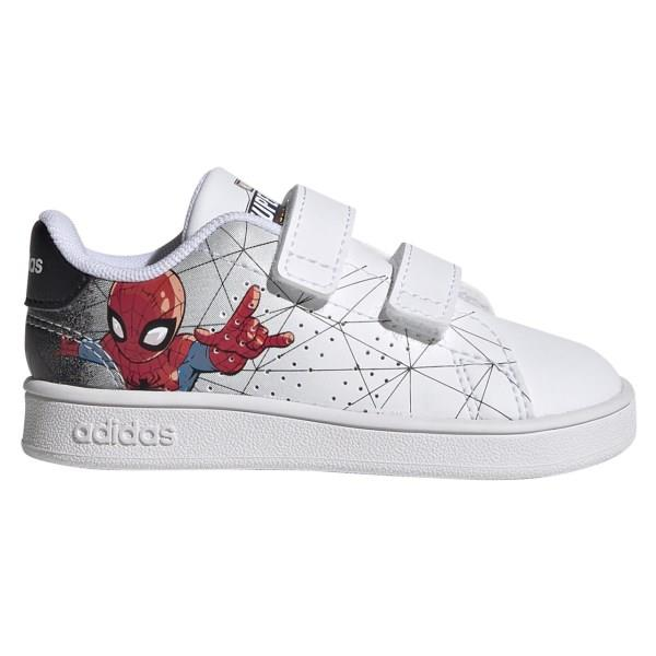 Adidas Advantage Spider-Man - Kids Sneakers - Cloud White/Core Black