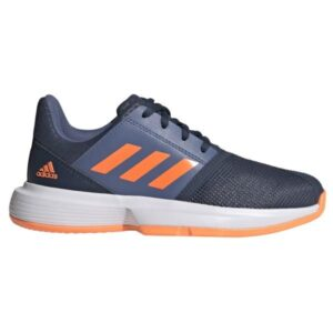 Adidas CourtJam XJ - Kids Tennis Shoes - Crew Navy/Screaming Orange/Crew Blue