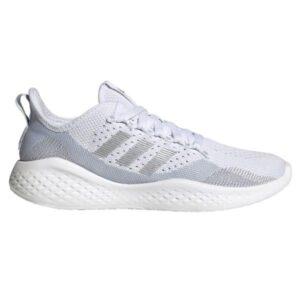 Adidas Fluidflow 2.0 - Womens Sneakers - Footwear White/Silver Metallic/Halo Blue
