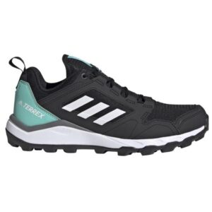 Adidas Terrex Agravic TR - Womens Trail Running Shoes - Core Black/Crystal White/Acid Mint