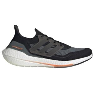 Adidas Ultraboost 21 - Mens Running Shoes - Core Black/Blue Oxide/Screaming Orange