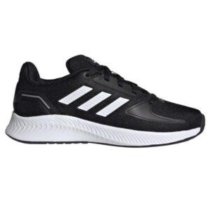 Adidas Runfalcon 2.0 - Kids Running Shoes - Core Black/Footwear White/Silver Metallic