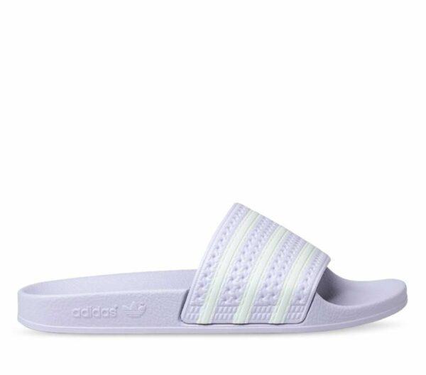 Adidas Womens Adilette Slides Purple Tint