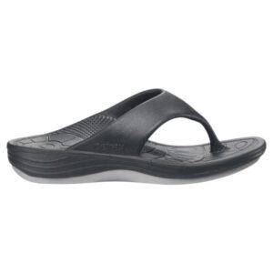 Aetrex Lynco Flips - Mens Thongs - Black