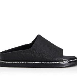 Alias Mae Womens Palmer Slide Black Kid Leather