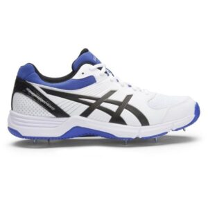 Asics Gel 100 Not Out - Mens Cricket Shoes - White/Onyx/Blue