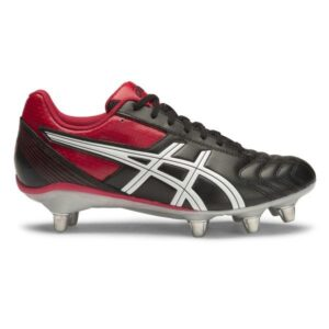 Asics Lethal Tackle - Mens Rugby Boots - Black/Racing Red/White