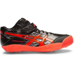 Asics Javelin Pro - Unisex Throwing Spikes - Black/Flash Coral/Silver