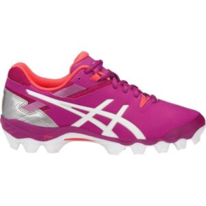 Asics Gel Lethal Touch Pro 6 - Womens Turf Shoes - Rouge Red/White/Coralicious