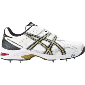 Asics Gel Speed Menace Lo - Mens Cricket Shoes - White/Black/Gold