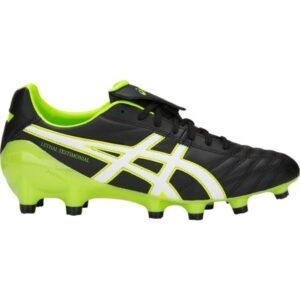 Asics Lethal Testimonial 4 IT - Mens Football Boots - Black/Hazard Green