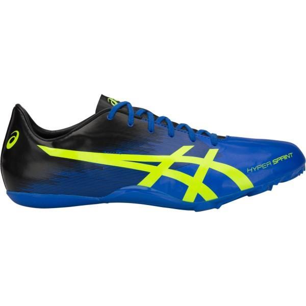 Asics Hyper Sprint 7 - Mens Sprint Track Spikes - Illusion Blue/Hazard Green