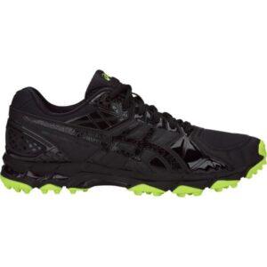 Asics Gel Lethal Burner - Mens Cross Training and Turf Shoes - Double Black/Hazard Green