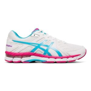 Asics Gel Rink Scorcher 4 - Womens Lawn Bowls Shoes - White/Aquarium/Pink