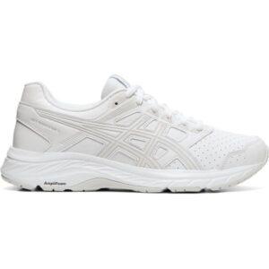 Asics Gel Contend 5 SL - Womens Walking Shoes - White/Glacier Grey