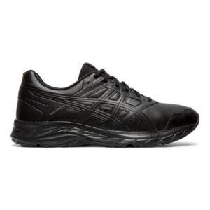 Asics Gel Contend 5 SL - Mens Walking Shoes - Black/Graphite Grey