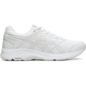 Asics Gel Contend 5 SL - Mens Walking Shoes - White/Glacier Grey