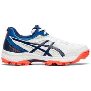 Asics Gel Peake 5 GS - Kids Cricket Shoes - White/Blue Expanse