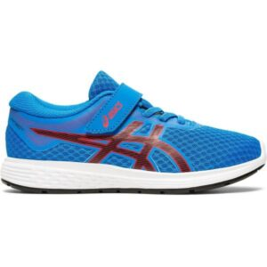 Asics Patriot 11 PS - Kids Running Shoes - Electric Blue/Speed Red
