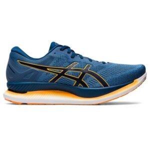 Asics GlideRide - Mens Running Shoes - Mako Blue/Yellow/White/Grey Floss