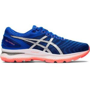 Asics Gel Nimbus 22 - Mens Running Shoes - Tuna Blue/Pure Silver