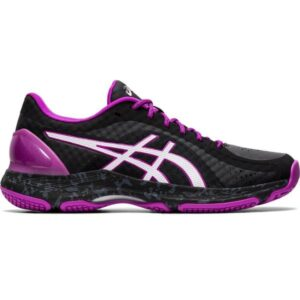Asics Netburner Super FF - Womens Netball Shoes - Black/White