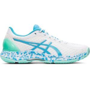 Asics Netburner Super FF - Womens Netball Shoes - White/Aquarium