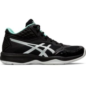 Asics Netburner Ballistic FF MT - Womens Netball Shoes - Black/Pure Silver